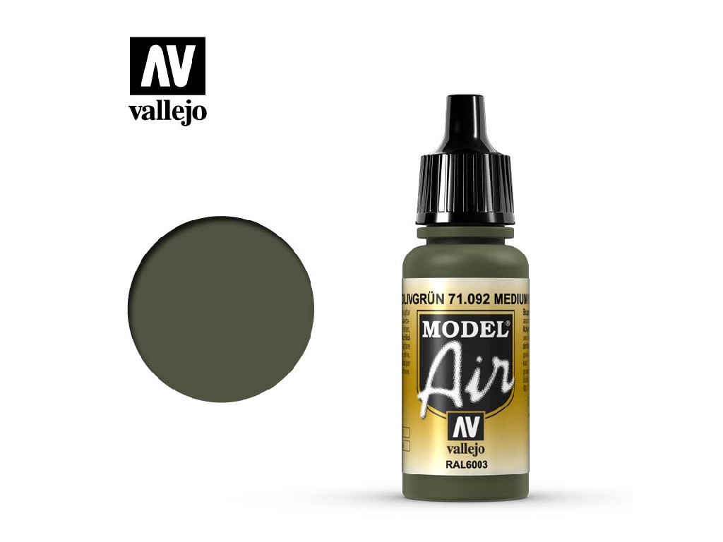 Vallejo Model Air - Medium Olive 17 ml. 71092