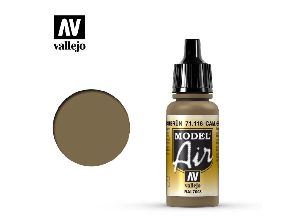 Vallejo Model Air - Cam. Gray Green 17 ml. 71116