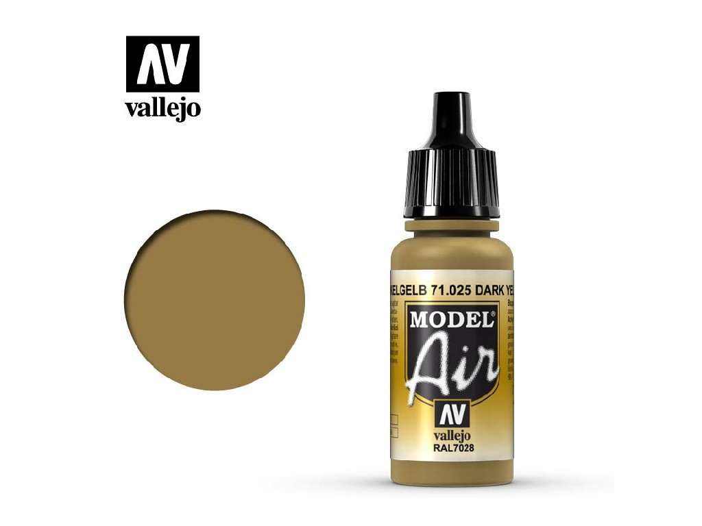 Vallejo - Model Air 71025 Dark Yellow 17 ml.