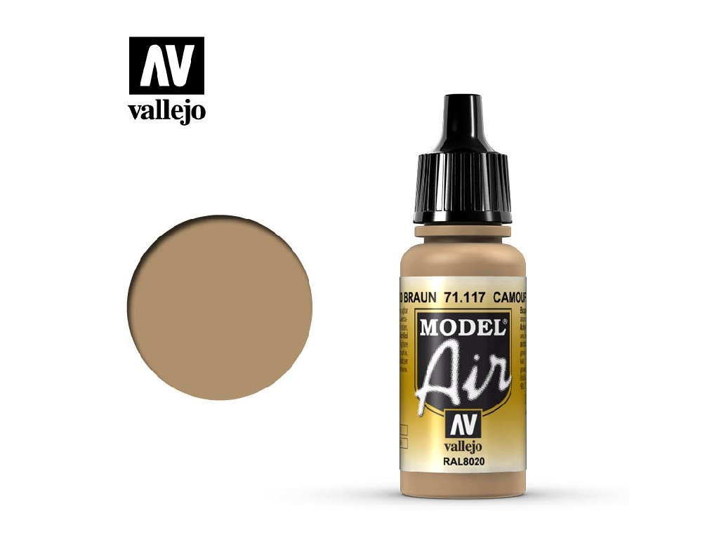 Vallejo Model Air - Camouflage Brown 17 ml. 71117
