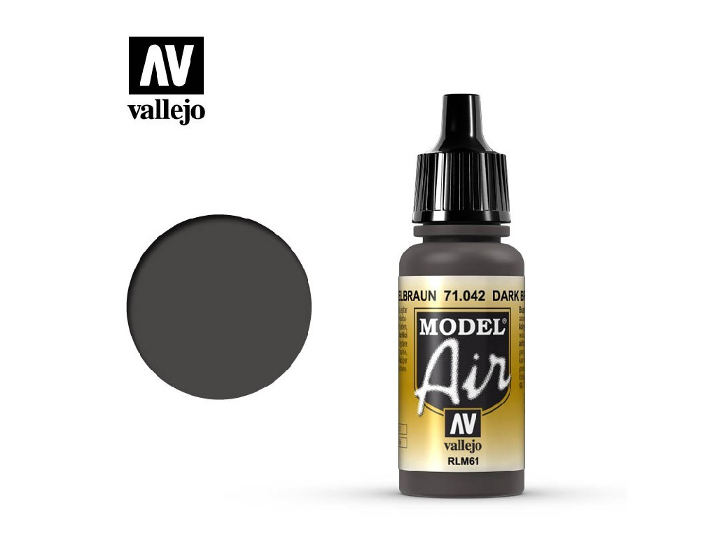 Vallejo Model Air - Dark Brown RLM61 17 ml. 71042