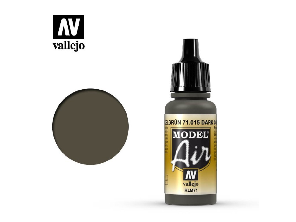 Vallejo - Model Air 71015 Dark Green RLM71 17 ml.