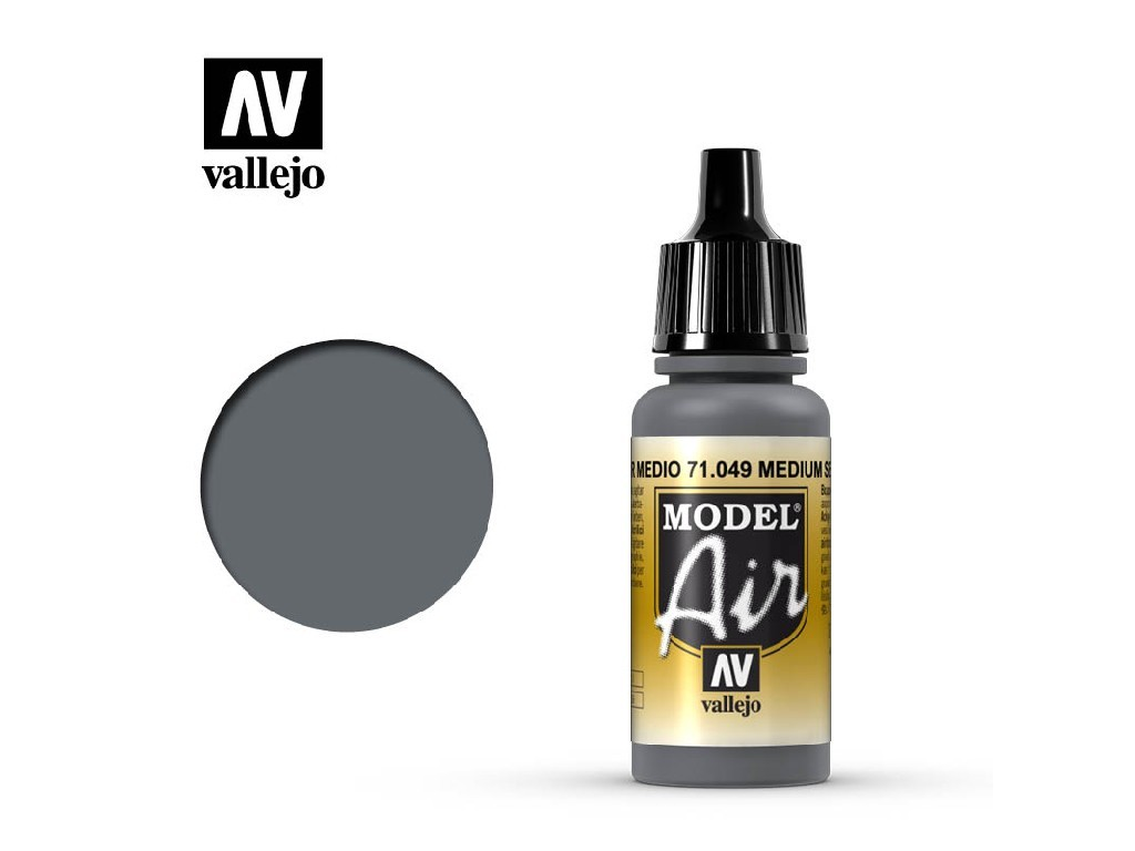 Vallejo - Model Air 71049 Medium Sea Grey 17 ml.