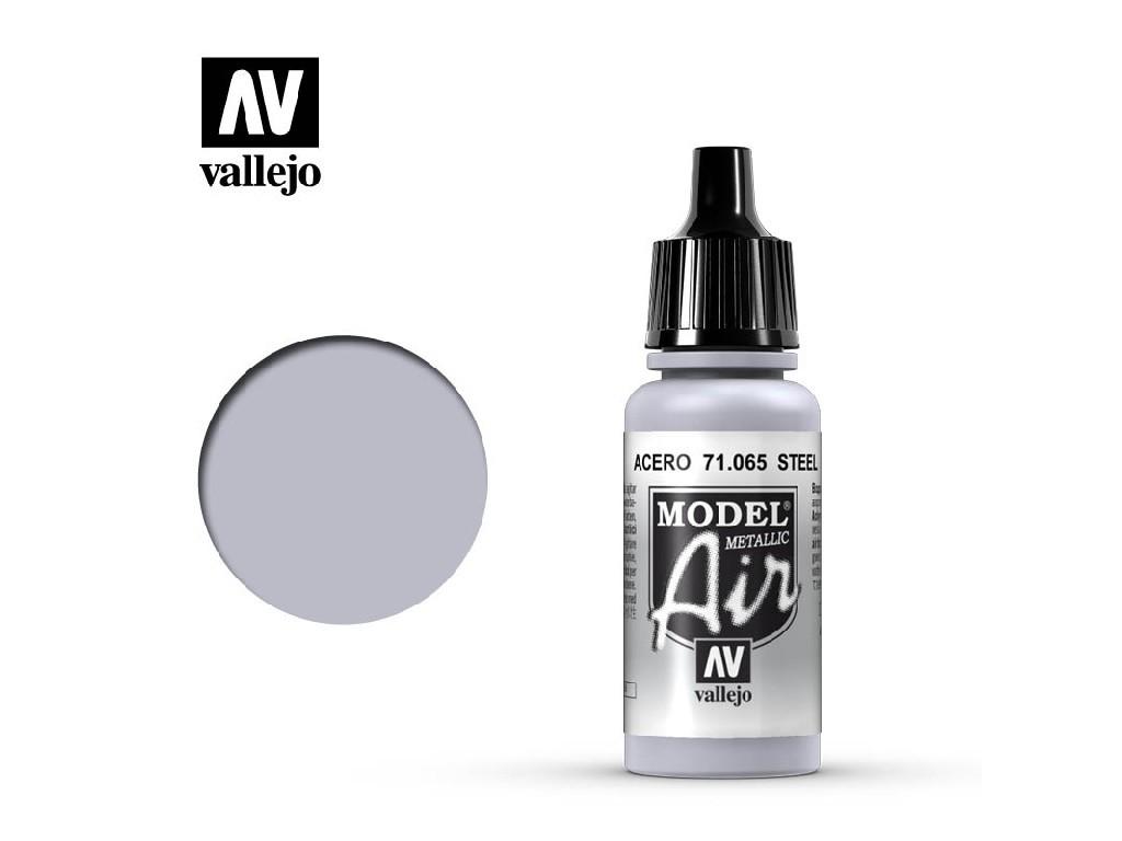 Vallejo - Model Air 71065 Steel 17 ml.