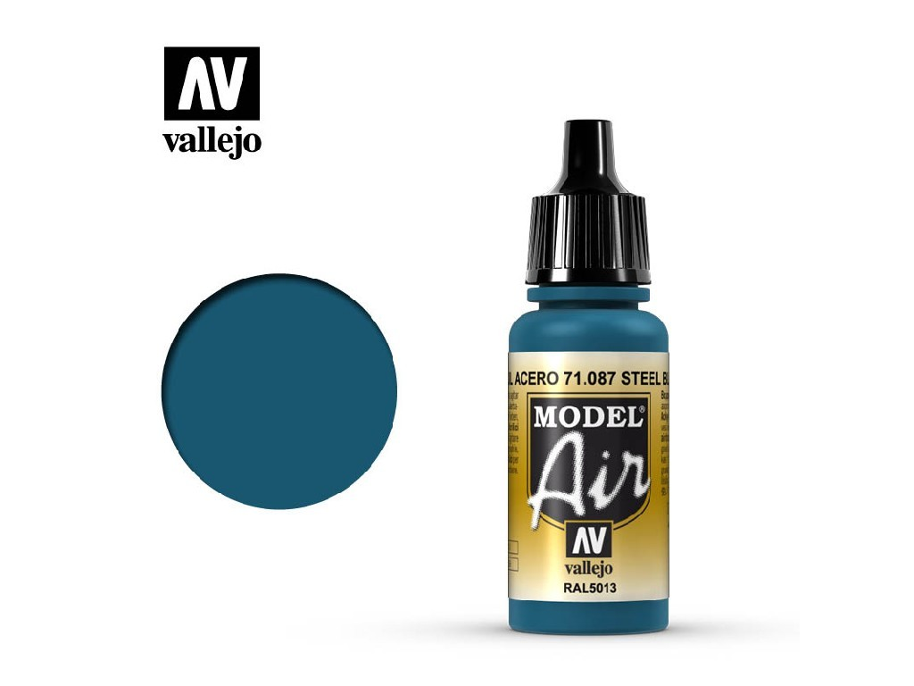 Vallejo - Model Air 71087 Steel Blue 17 ml.