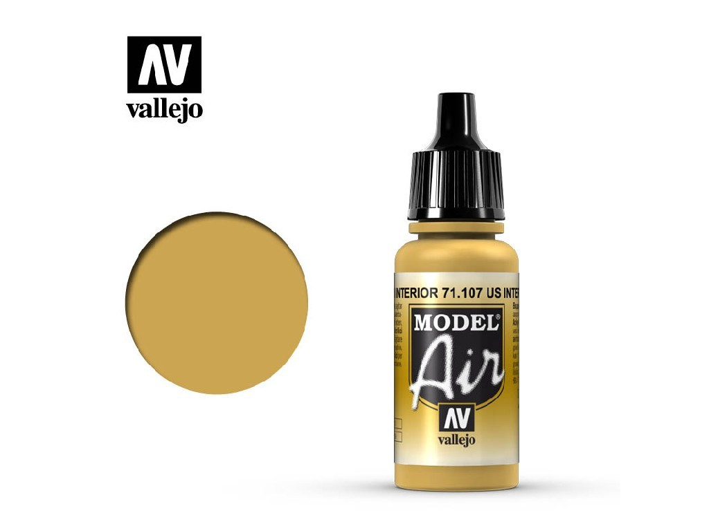 Vallejo Model Air - US Interior Yellow 17 ml. 71107