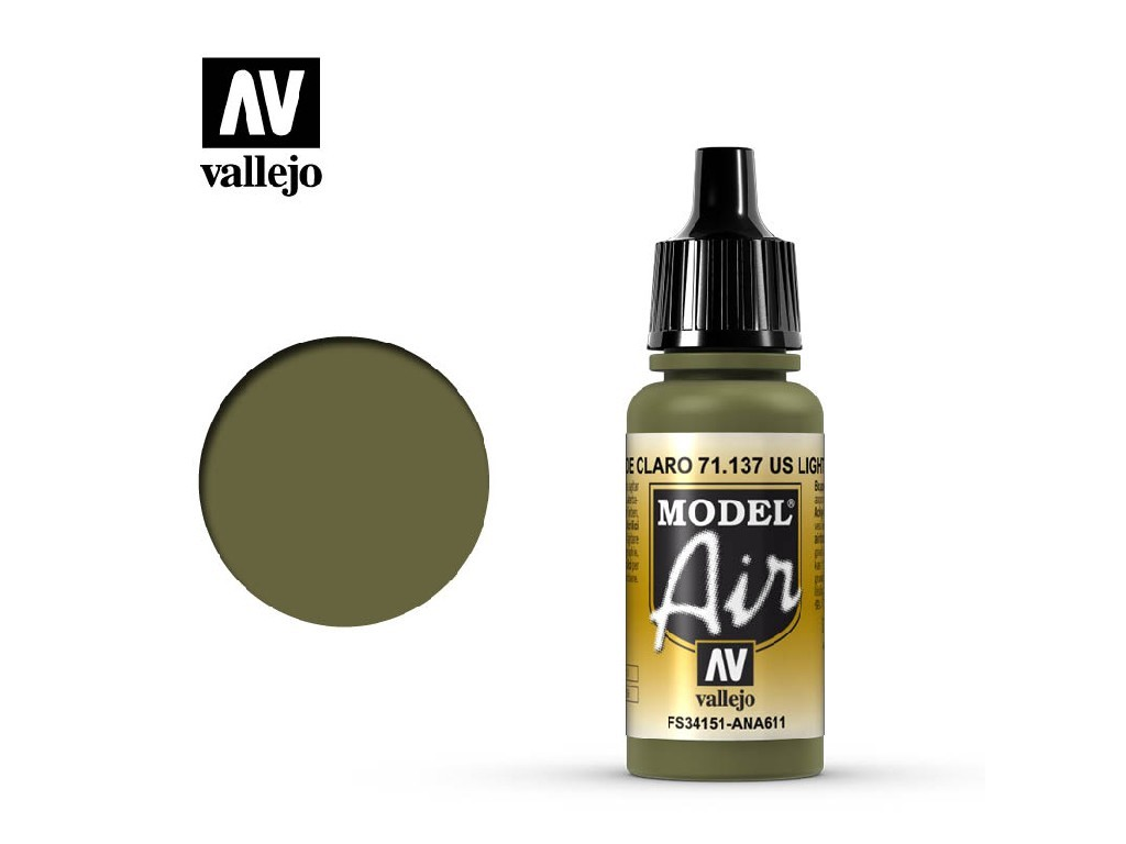 Vallejo Model Air - US Light Green 17 ml. 71137
