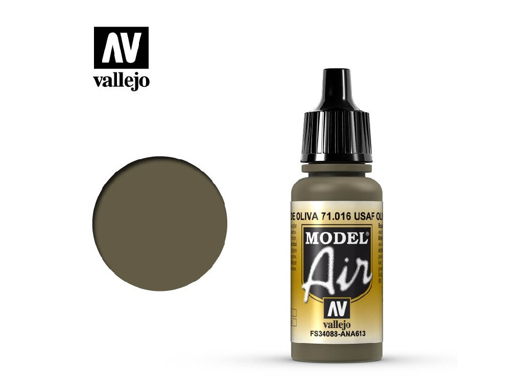 Vallejo - Model Air 71016 USAF Olive Drab 17 ml.