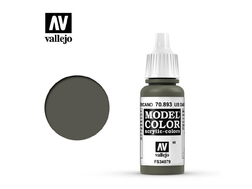 Vallejo - Model Color 95 Us Dark Green 17 ml. 70893