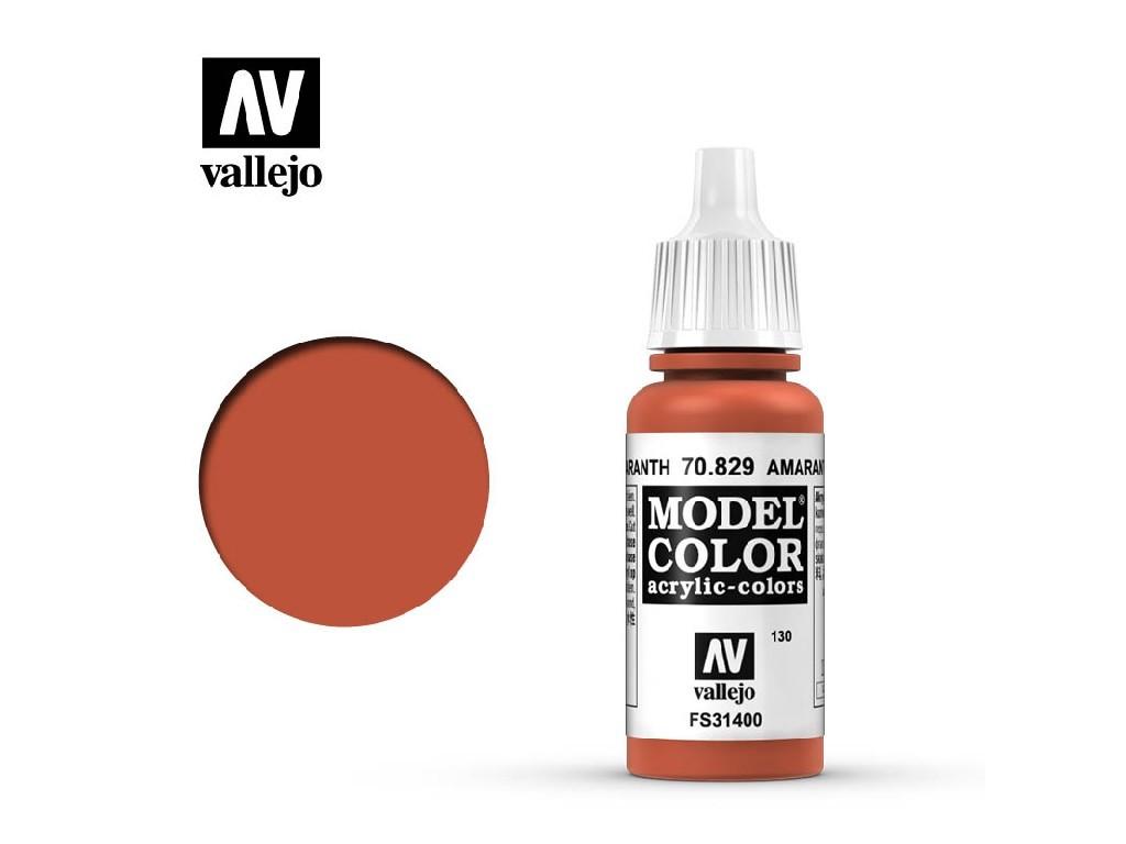 Vallejo - Model Color 130 Amarantha Red 17 ml. 70829