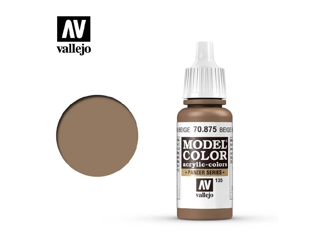 Vallejo Model Color - 135 Beige Brown 17 ml. 70875