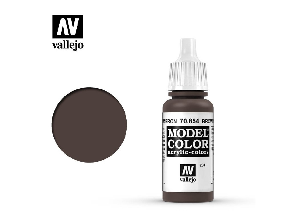Vallejo Model Color - 204 Brown Glaze 17 ml. 70854