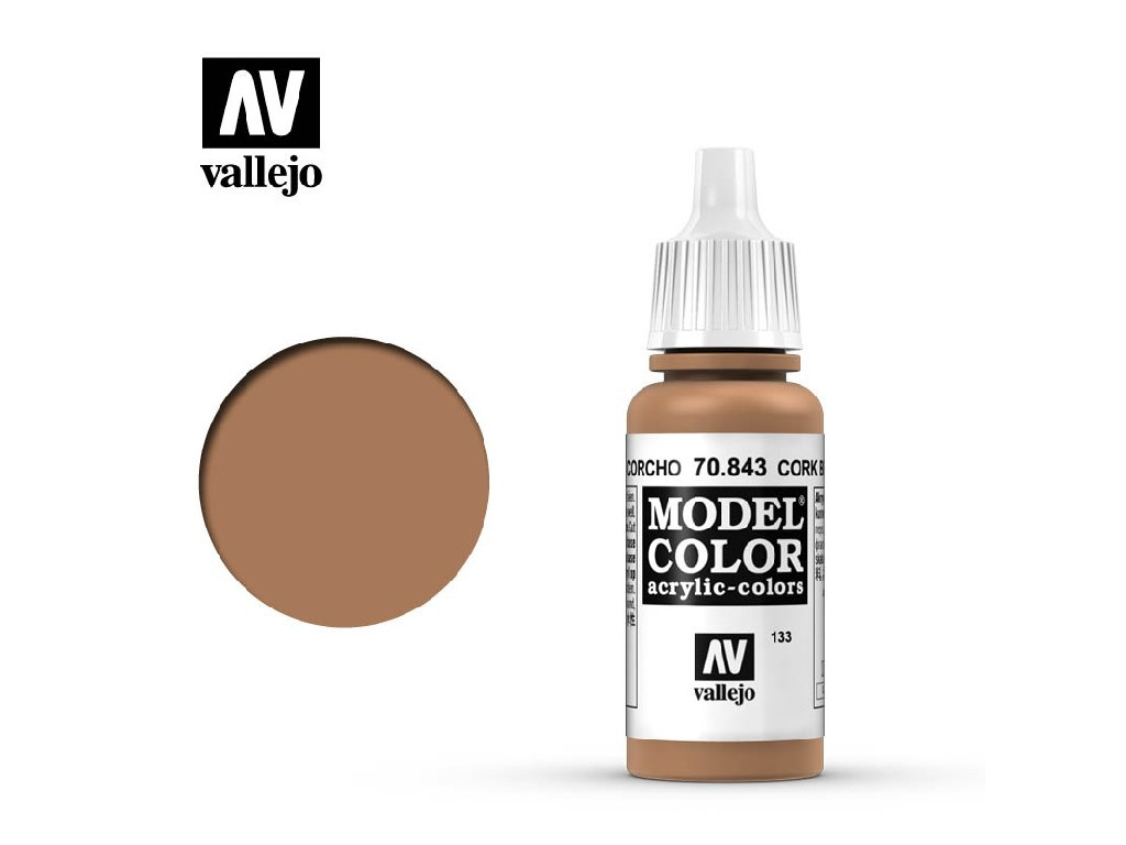 Vallejo Model Color - 133 Cork Brown 17 ml. 70843