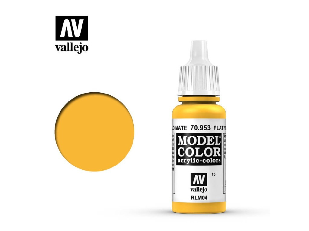 Vallejo - Model Color 15 Flat Yellow 17 ml. 70953