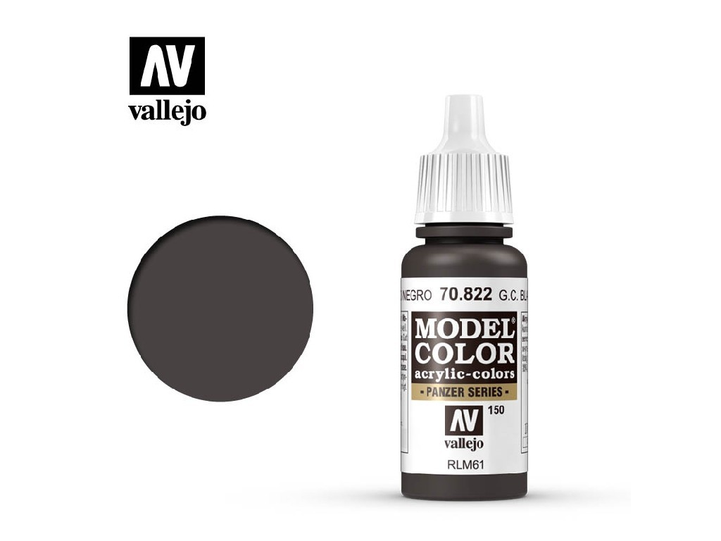 Vallejo Model Color - 150 German Cam. Black Brown 17 ml. 70822