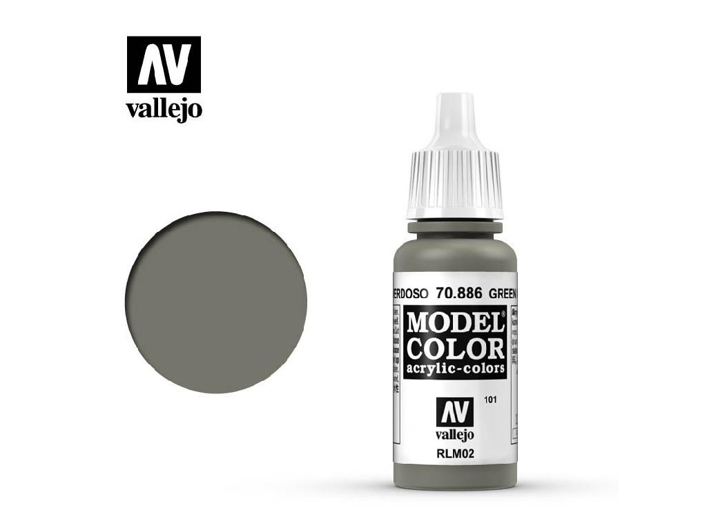 Vallejo Model Color - 101 Green Grey 17 ml. 70886