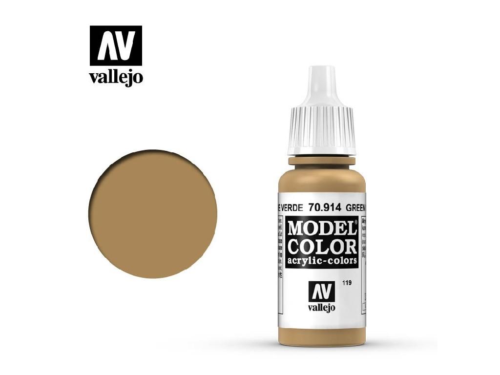 Vallejo - Model Color 119 Green Ochre 17 ml. 70914