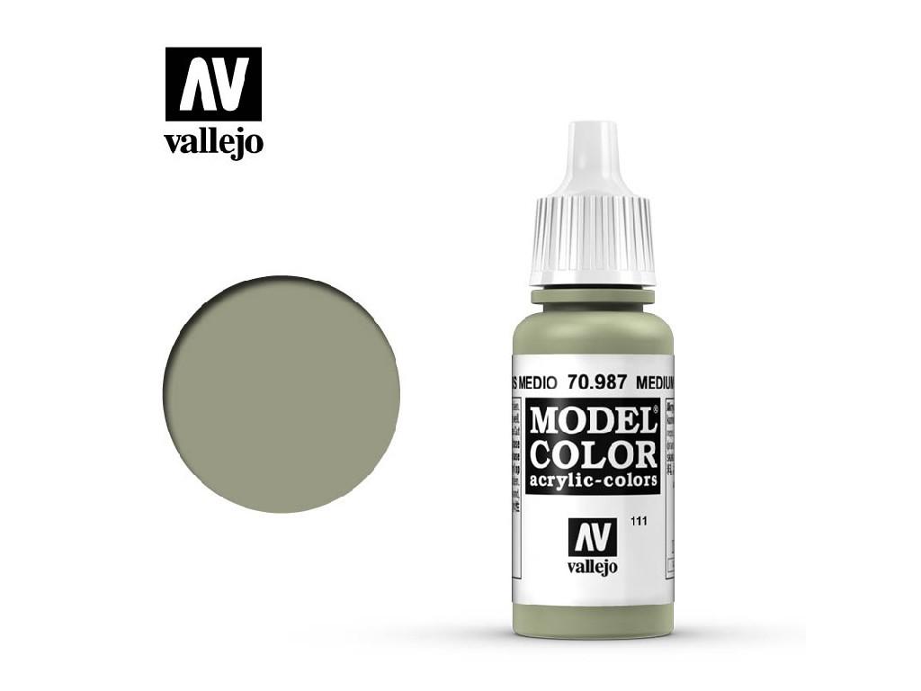 Vallejo - Model Color 111 Medium Grey 17 ml. 70987