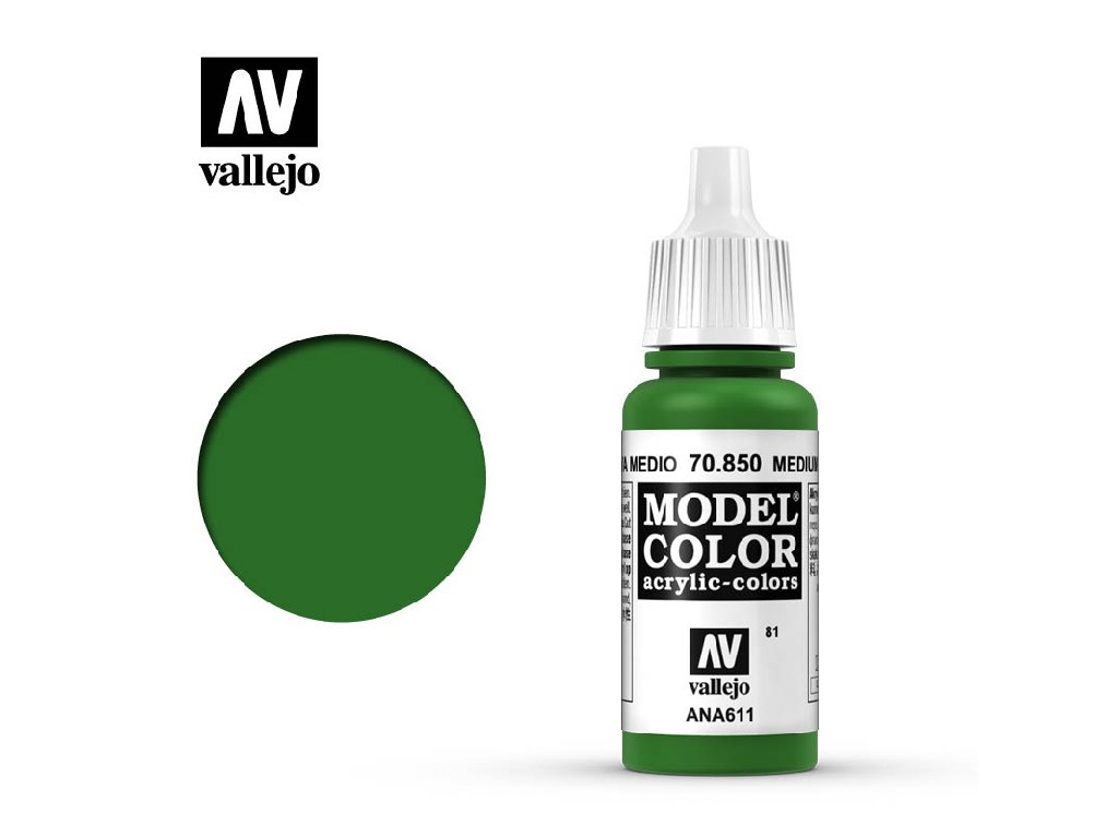 Vallejo Model Color - 81 Medium Olive 17 ml. 70850