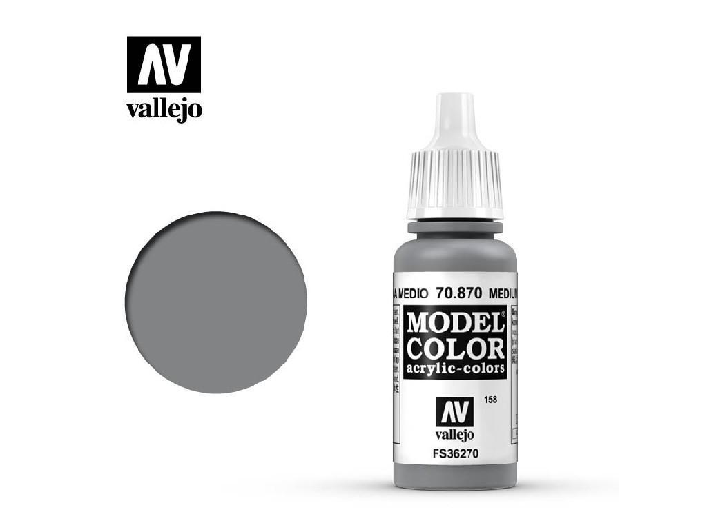 Vallejo Model Color - 158 Medium Sea Grey 17 ml. 70870