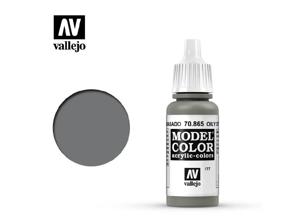 Vallejo Model Color - 177 Oily Steel 17 ml. 70865