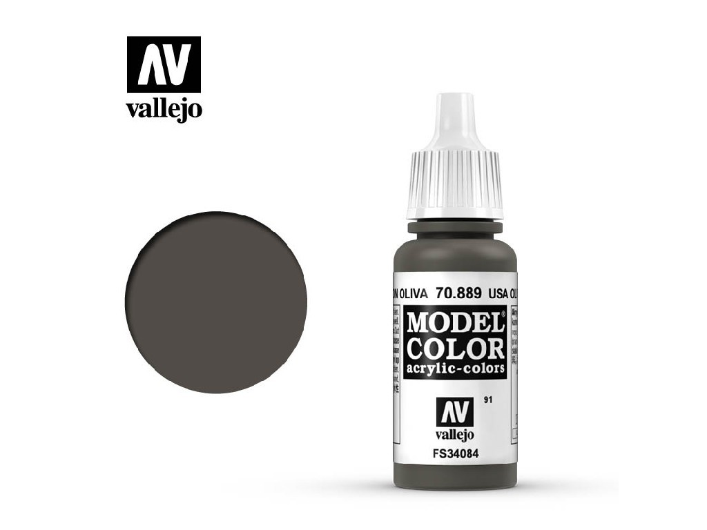 Vallejo Model Color - 91 U.S.A. Olive Drab 17 ml. 70889