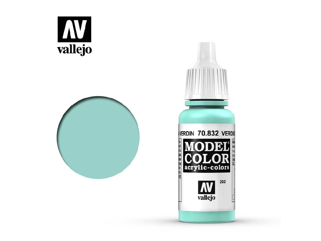 Vallejo Model Color - 202 Verdigris Glaze 17 ml. 70832