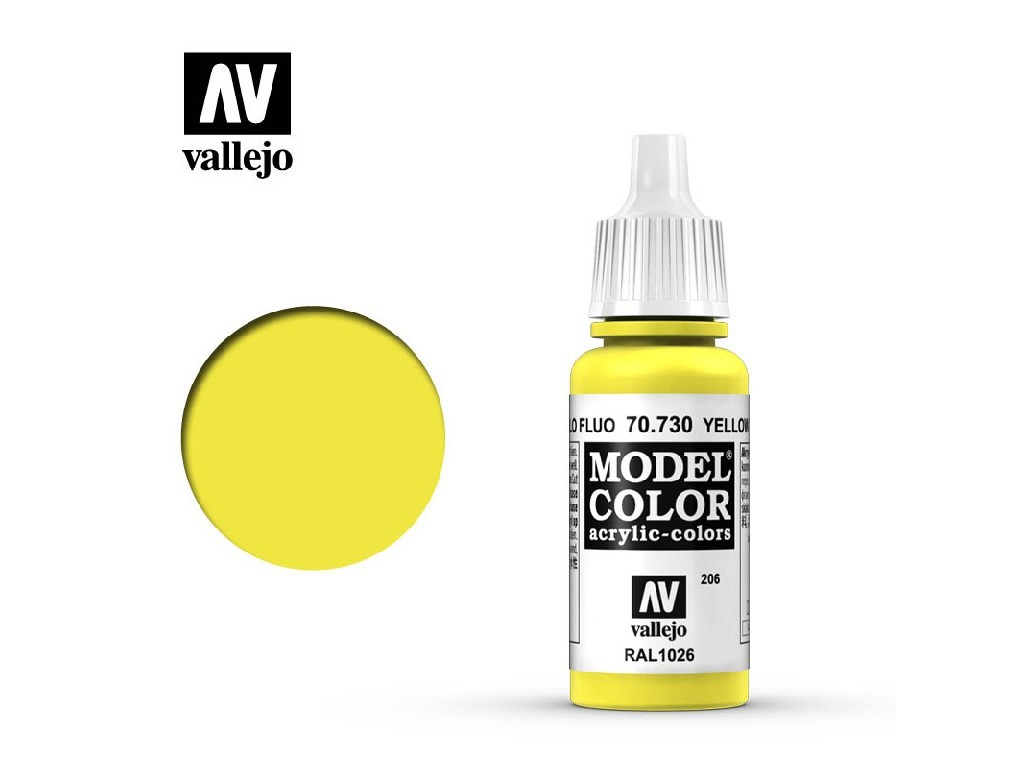 Vallejo Model Color - 206 Yellow Fluo 17 ml. 70730