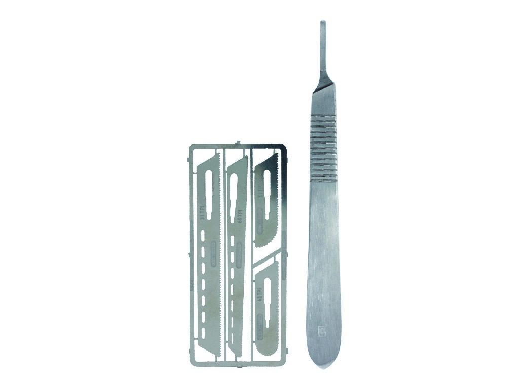 Vallejo Náradie - Modelárska pílka a 4 ks pílkových nástavcov T06001