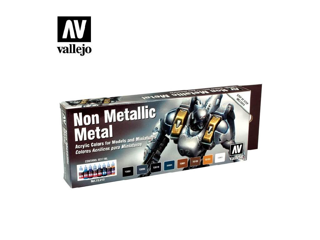 Vallejo Game Color Set - Non Metallic Metal 8 x 17 ml. 72212