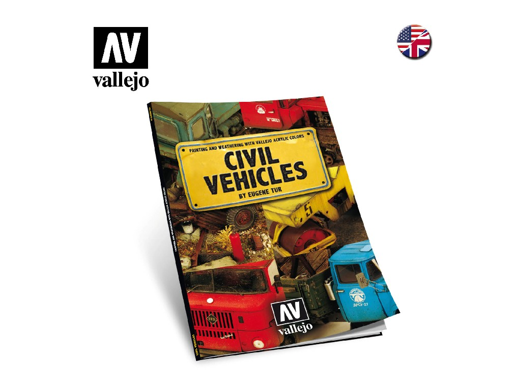 Vallejo Kniha -  Civil Vehicles by Vehicles Tur 75012