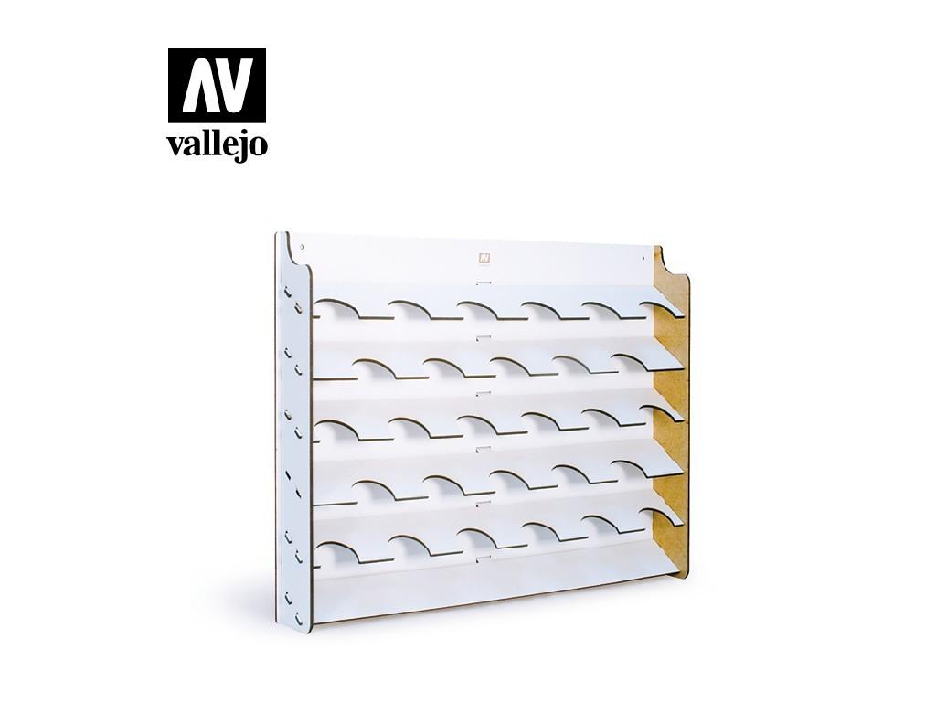 Vallejo - Příslušenství 26009 Stojan na zeď na barvy pro lahve o objemu 35 a 60