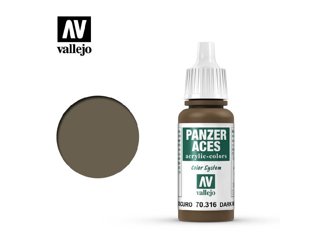 Vallejo Panzer Aces - Dark Mud 70316 17 ml.