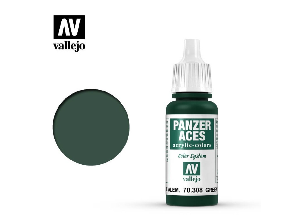 Vallejo Panzer Aces - Green Tail Light 70308 17 ml.