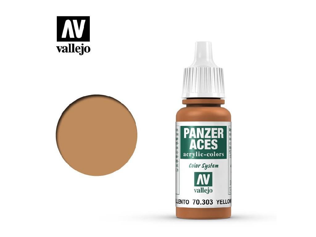 Vallejo - Panzer Aces 70303 - Yellowish Rust 17 ml.