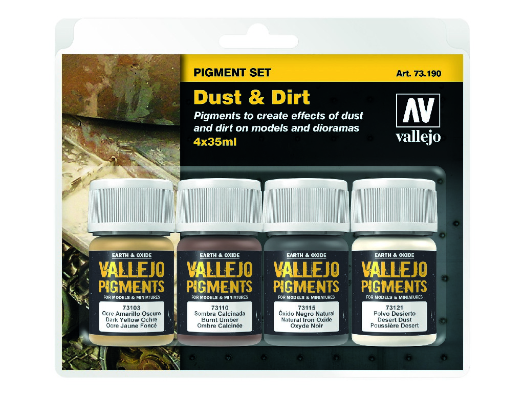 Vallejo Pigmenty - Dust and Dirt 4 x 35 ml. 73190
