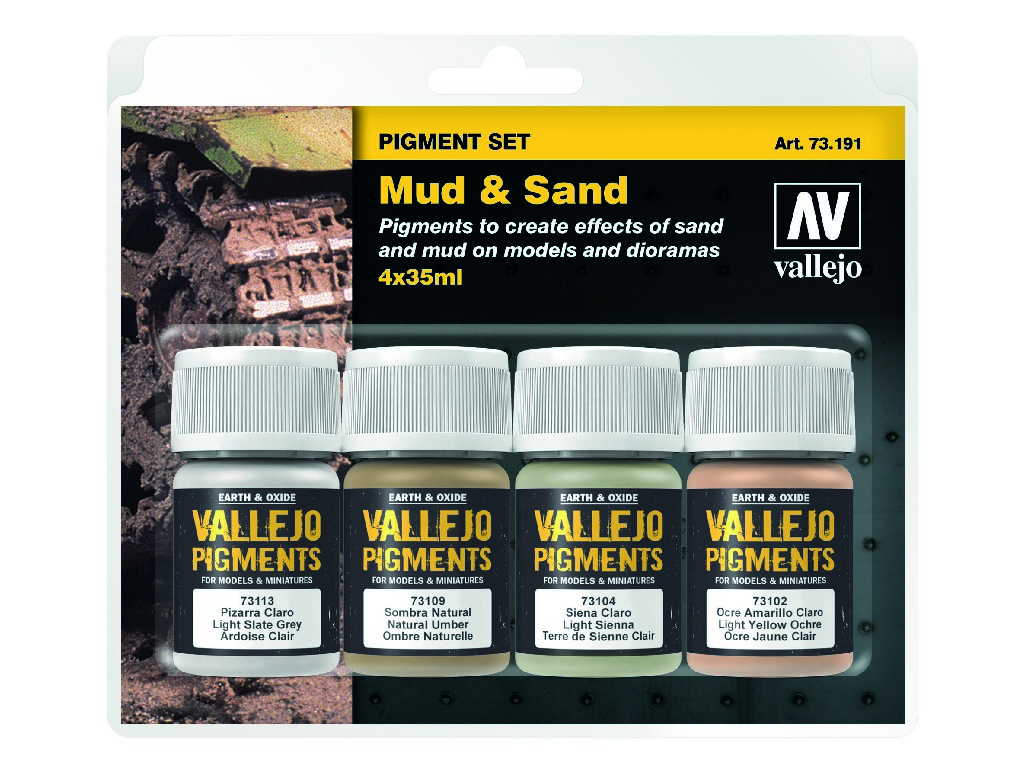 Vallejo Pigmenty - Mud and Sand 4 x 35 ml. 73191