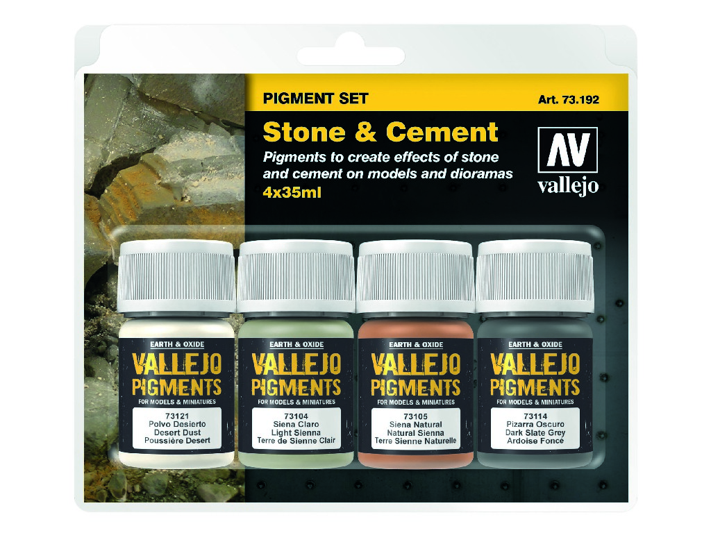 Vallejo Pigmenty - Stone and Cement 4 x 35 ml. 73192