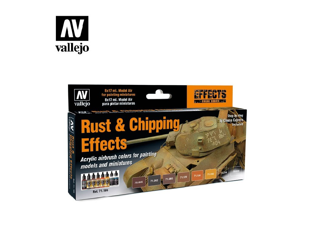 Vallejo Model Air Set - Rust and Chipping Effects 8x17 ml. 71186