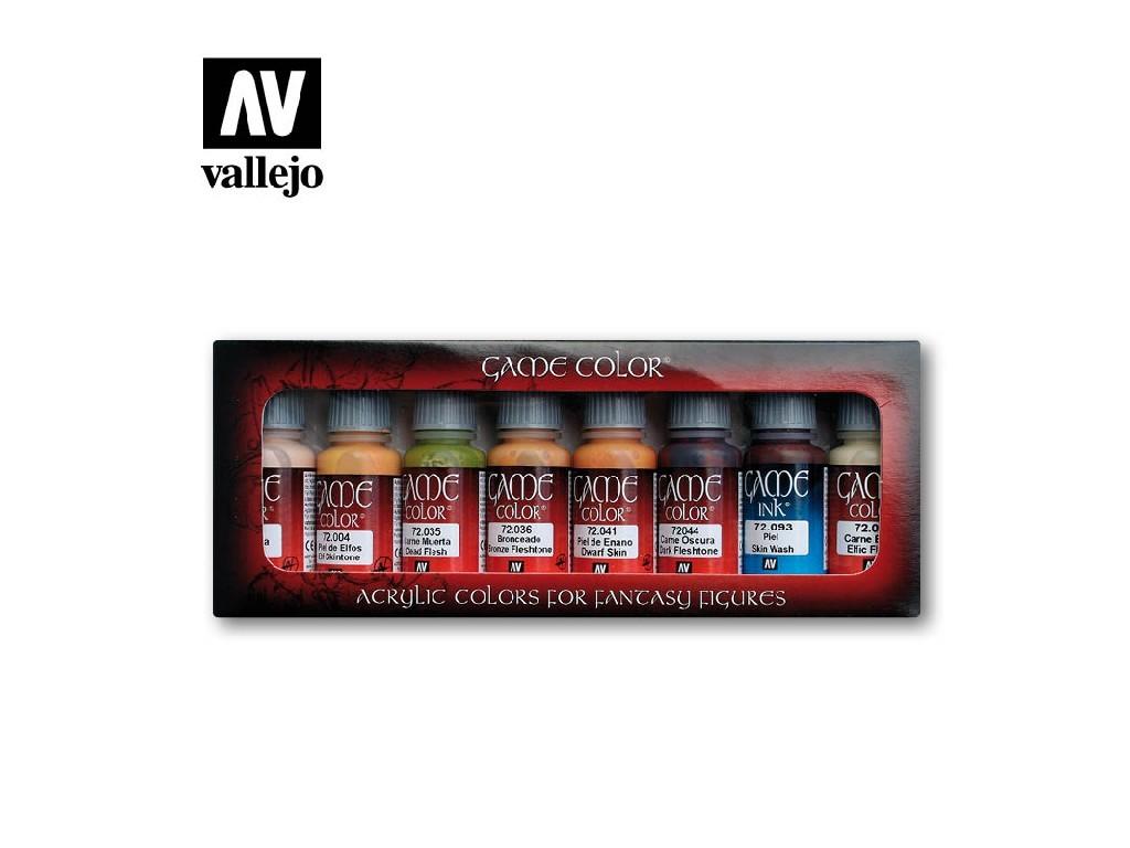Vallejo Game Color Set - Skin Tones 8 x 17 ml. 72295