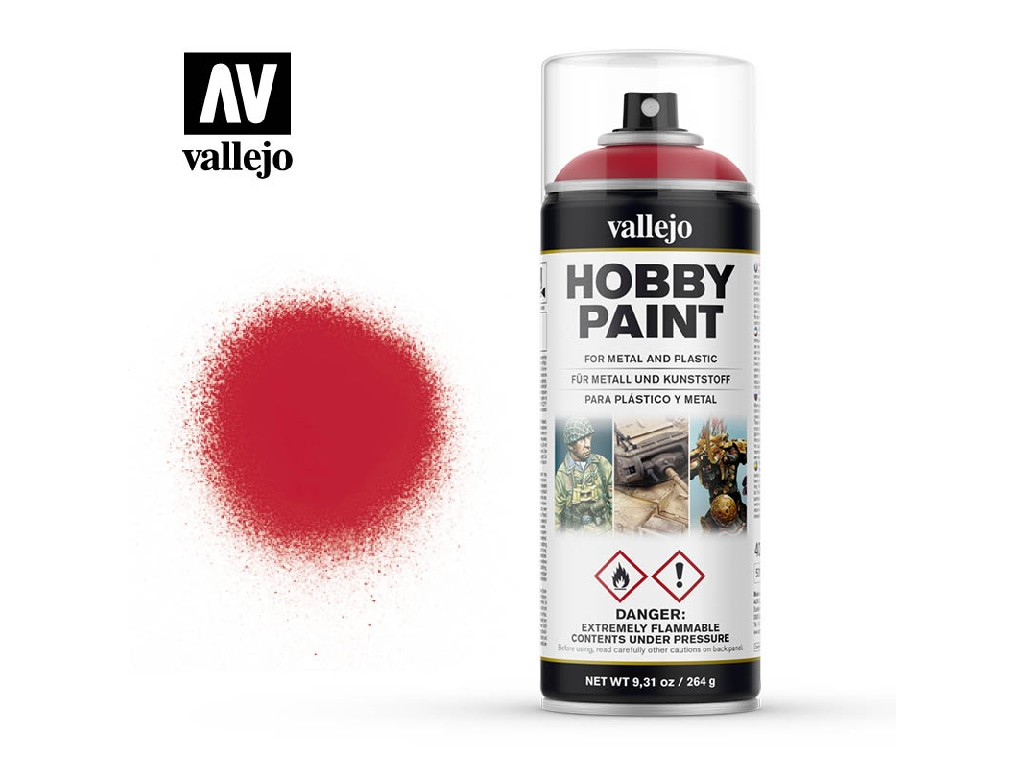 Vallejo Sprej - Bloody Red 28023 400 ml.
