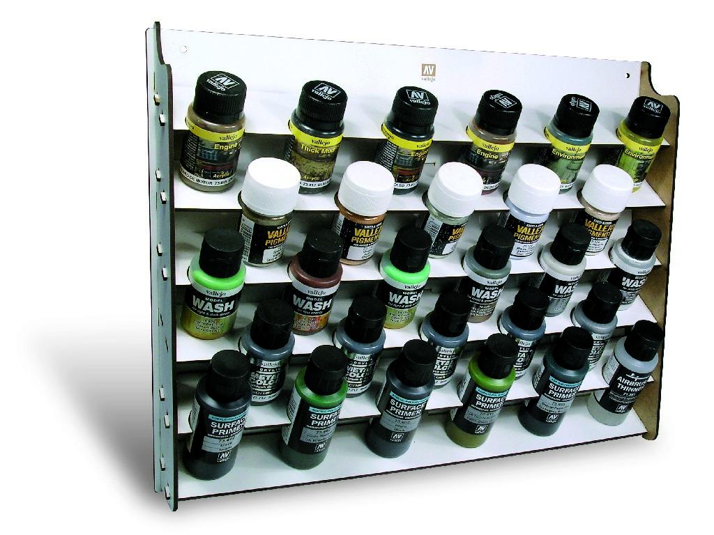 Vallejo Příslušenství - Nástěnný stojan na barvy pro lahve o objemu 35 a 60 ml 26009