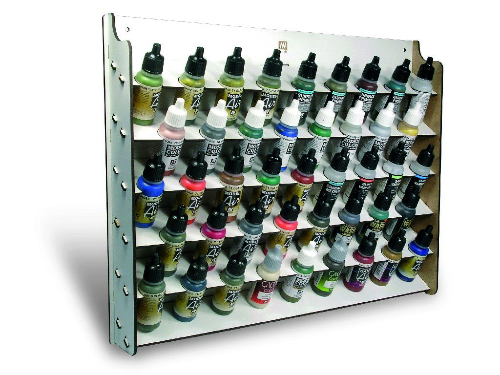 Vallejo Příslušenství - Nástěnný stojan na barvy pro lahve o objemu 17 ml. 26010