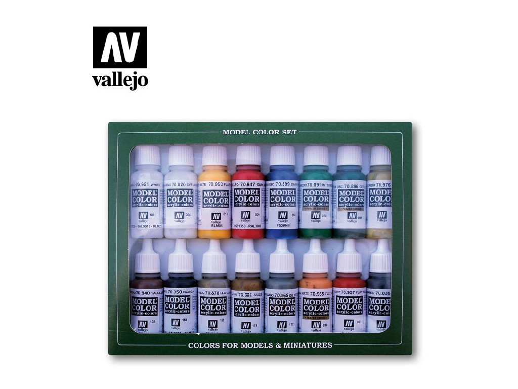 Vallejo Model Color Set - 70149 Napoleonic Colors French and British 1789-1815 16x17 ml.