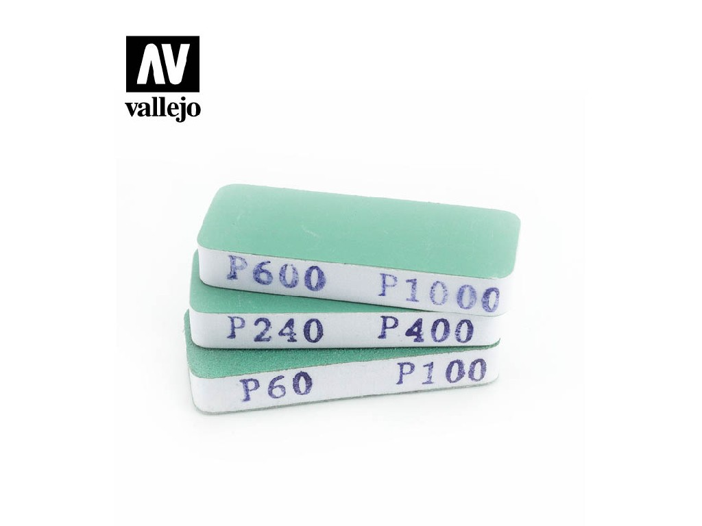 Vallejo - Brousítka oboustraná 80x30x12mm - 3ks