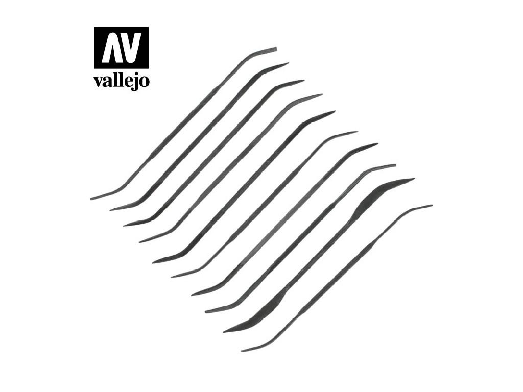 Vallejo - Sada 10 ks zahnutých pilníků T03003