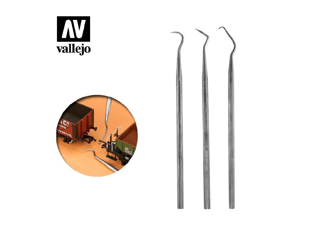 Vallejo - Sada 3 ks pomocného nářadí z nereznoucí ocele T02001