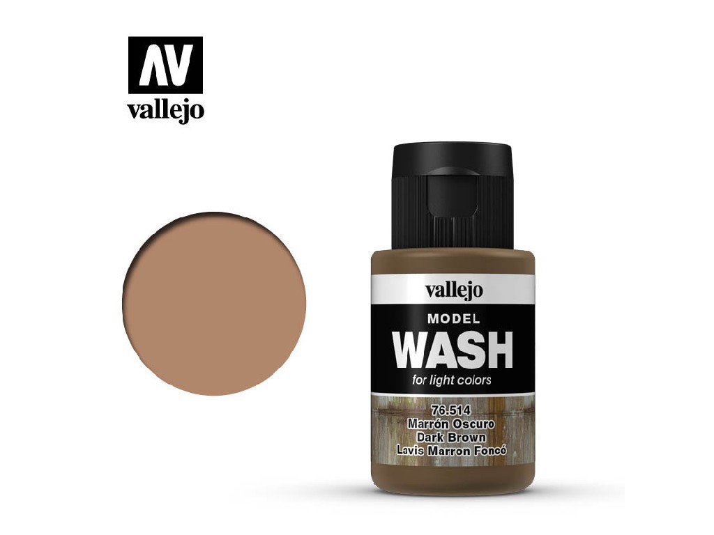 Vallejo - Model Wash 76514 Dark Brown 35 ml.