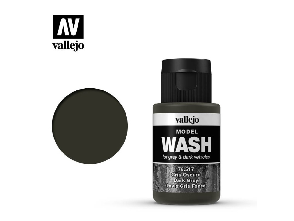 Vallejo - Model Wash 76517 Dark Grey 35 ml.