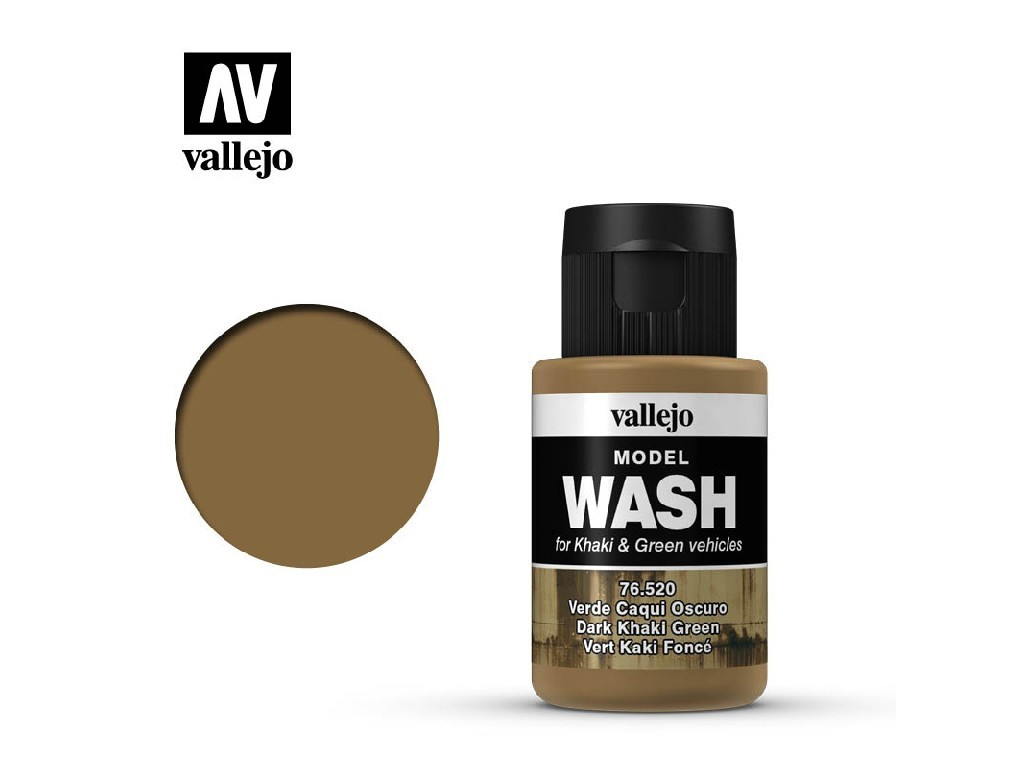 Vallejo - Model Wash 76520 Dark Khaki Green 35 ml.